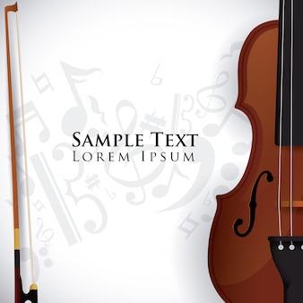 Design di violino.