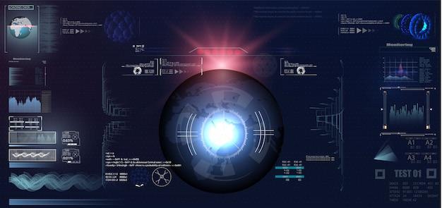 Design di visualizzazione head-up vr futuristico