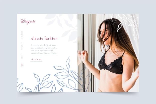 Design di webtemplate di vendita di moda