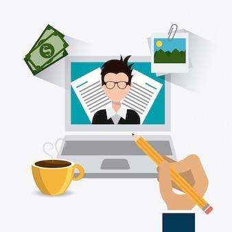 Design digitale blogger.