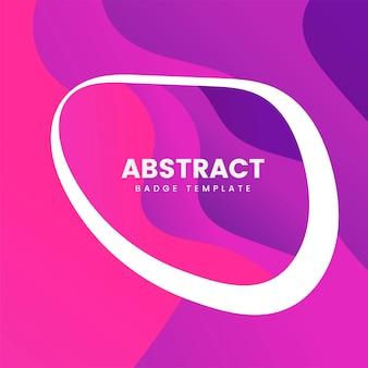 Design distintivo astratto in rosa