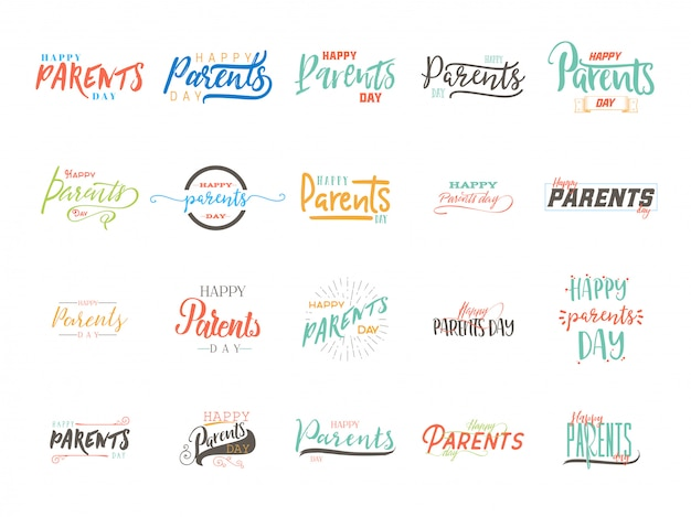 Design distintivo del giorno dei genitori