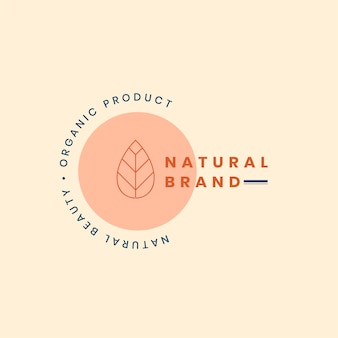 Design distintivo del marchio logo naturale