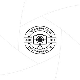 Design distintivo o etichetta del fotografo