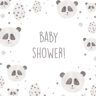 Design doccia doccia con pandas acquerello