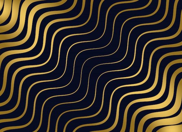 Design dorato motivo ondulato di alta qualità