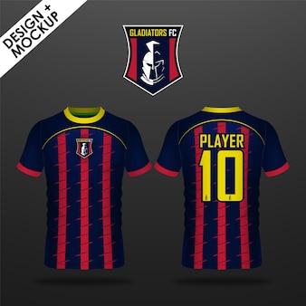 Design e mockup di maglia da calcio