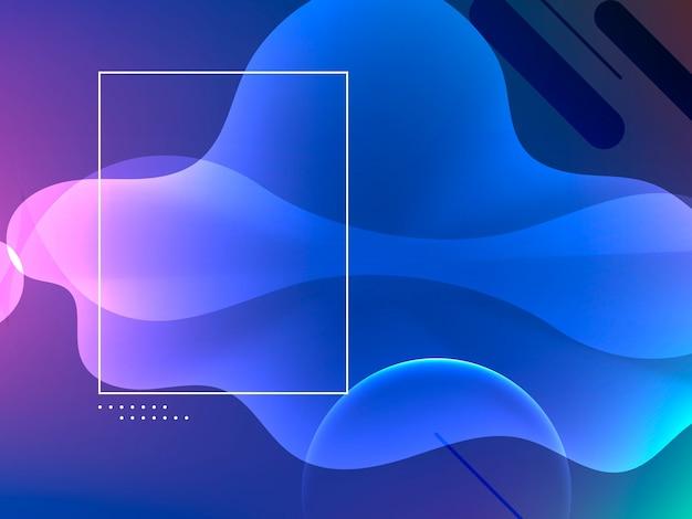 Design elegante banner ondulato