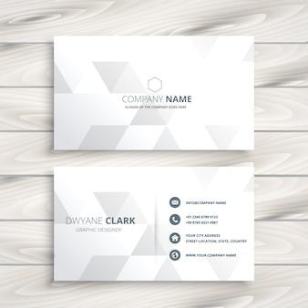 Design elegante biglietto da visita bianco