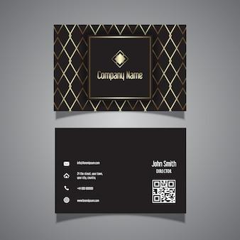 Design elegante biglietto da visita con dettagli dorati