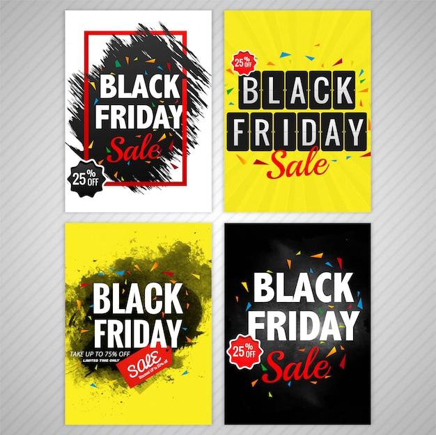 Design elegante colorato nero venerdì sfondo collezione