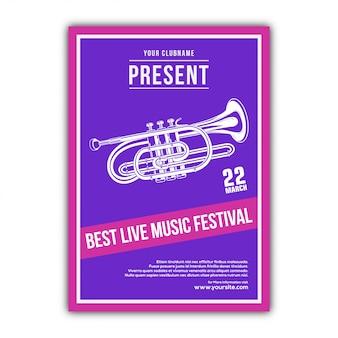 Design elegante di poster musicali