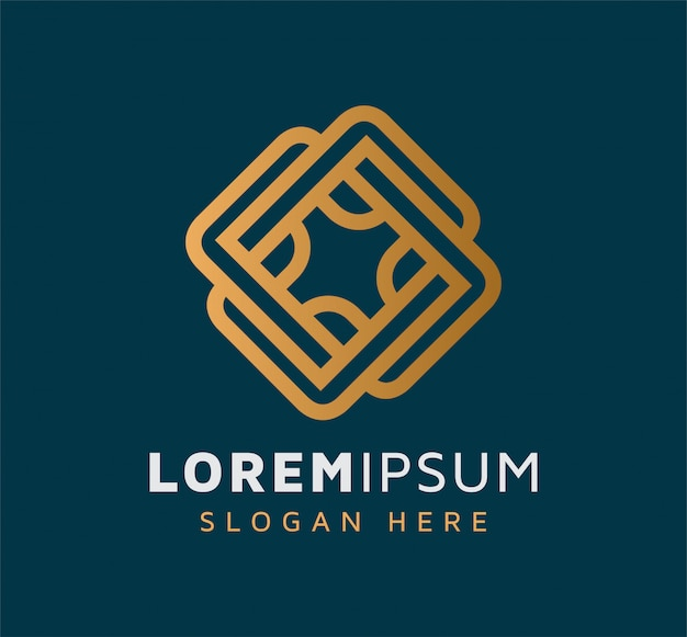 Design elegante logo astratto monoline