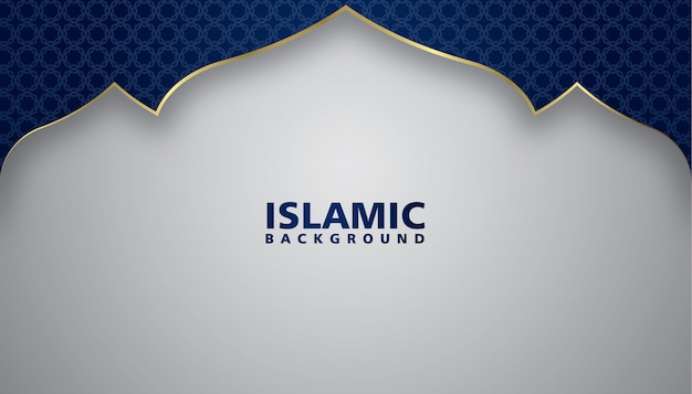 Design elegante lusso sfondo islamico