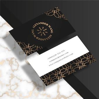 Design elegante modello di biglietto da visita