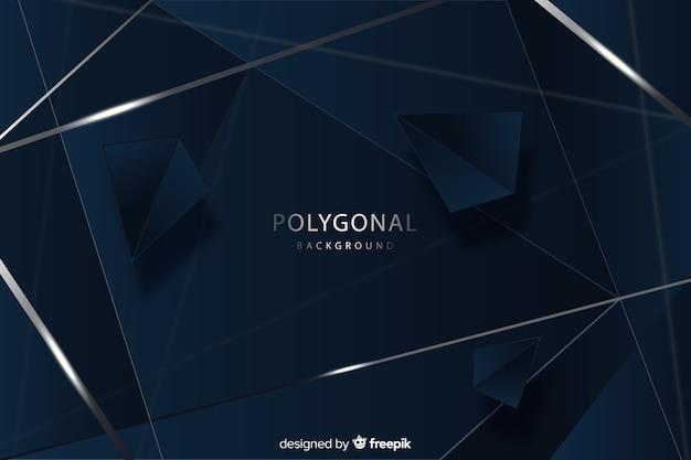 Design elegante sfondo poligonale scuro