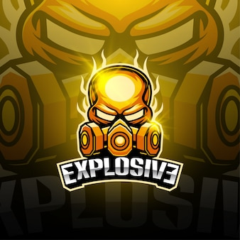 Design esplosivo logo mascotte esport