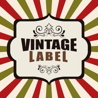 Design etichetta vintage e retrò.