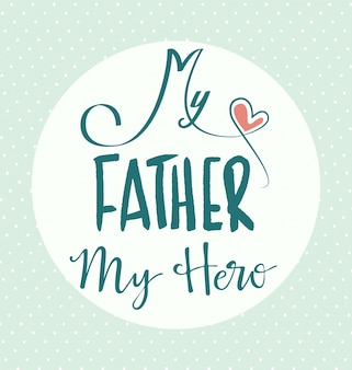 Design fathers day background