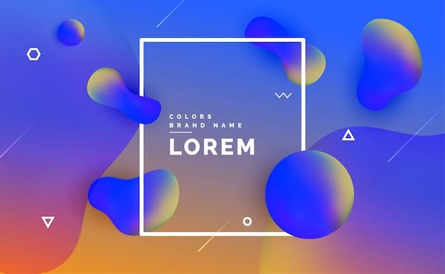Design fluido del gradiente di colore liquido moderno