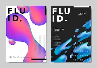 Design fluido della carta da parati con gradiente