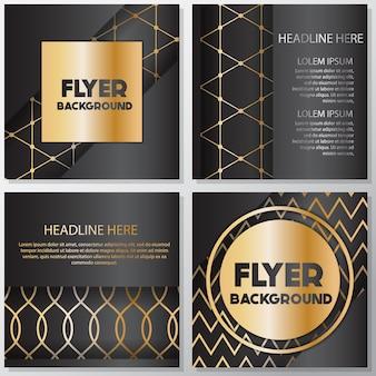 Design flyer bande dorate