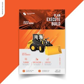 Design flyer di costruzione