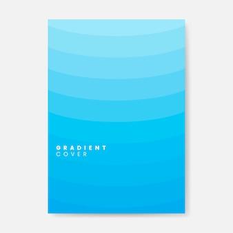 Design grafico di copertura sfumatura blu