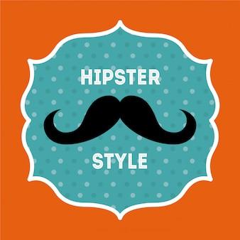Design hipster su sfondo arancione illustrazione vettoriale