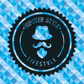 Design hipster su sfondo blu illustrazione vettoriale
