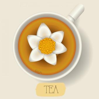Design icona del tè