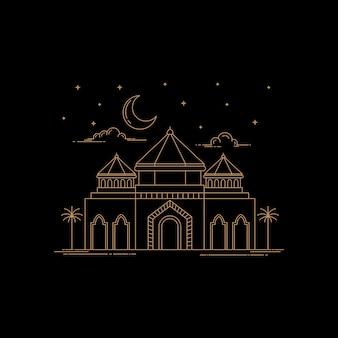 Design in stile arte linea moschea