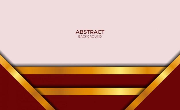 Design in stile astratto rosso e oro