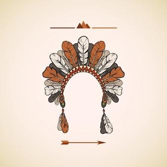 Design indiano copricapo