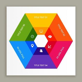 Design infografica con colori vivaci