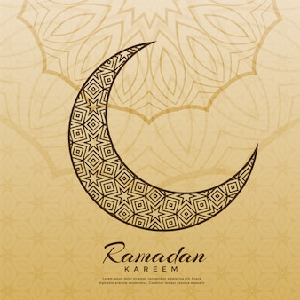 Design islamico della luna per la stagione del ramadan kareem