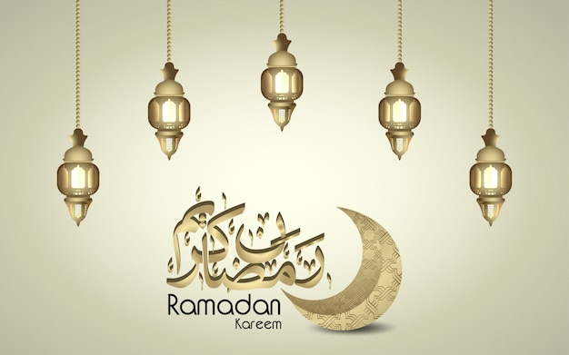 Design islamico ramadan kareem calligrafia