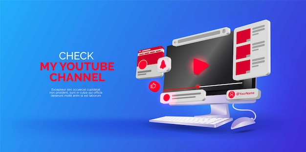 Design isometrico sul canale youtube