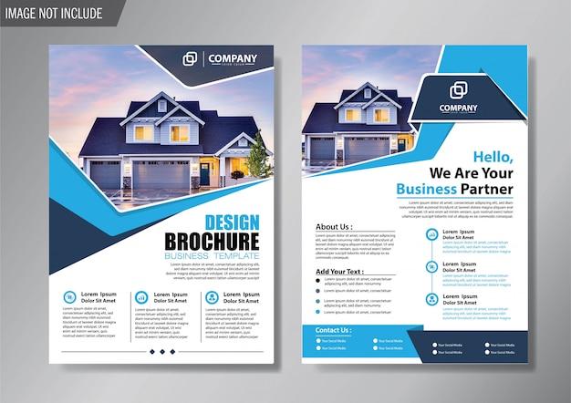 Design layout copertina flyer e modello di business brochure per relazione annuale di sfondo