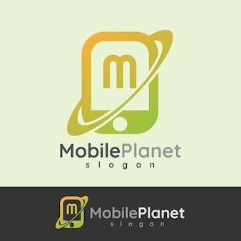 Design letterale iniziale smart mobile mobile letter m
