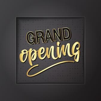 Design lettering grand opening. illustrazione vettoriale