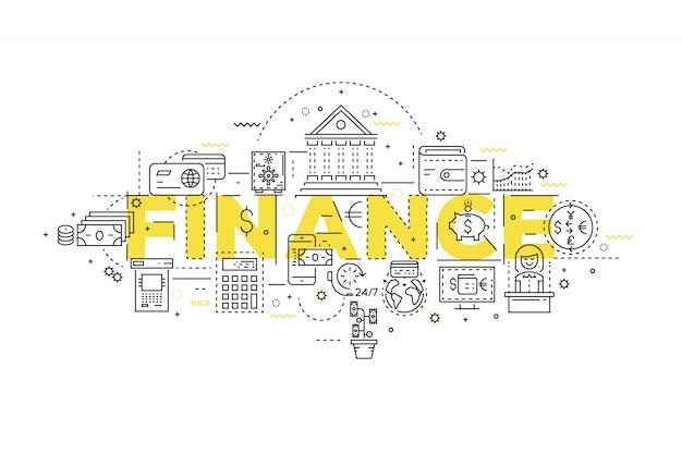 Design lineare finanziario