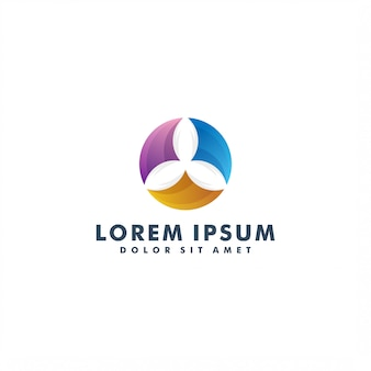 Design logo colorato foglia naturale