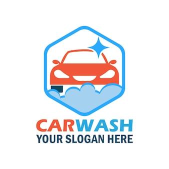 Design logo elegante di lavaggio auto
