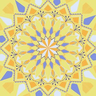 Design luminoso mandala