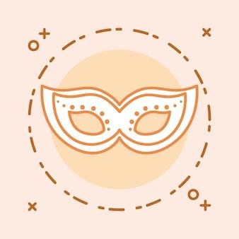 Design maschera di carnevale