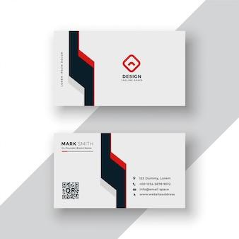 Design minimale del biglietto da visita geometrico