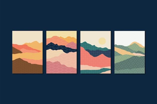 Design minimale della collezione di copertine giapponesi
