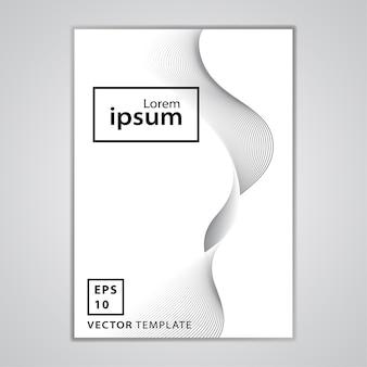 Design minimale della copertura dell'opuscolo di affari