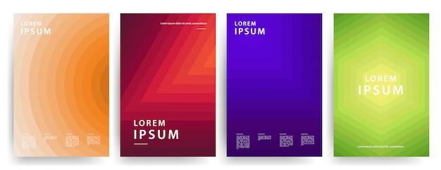 Design minimale delle copertine. fantastici gradienti geometrici. set vettoriale.